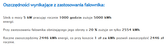 Wynik - kalkulator oszczędności energii
